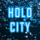 Holographic city scape particles - VideoHive Item for Sale