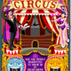 Circus Carnival Tent Invite Theme Park Poster Vector Illustration
