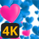 Valentine Hearts Animated Background 2 4K - VideoHive Item for Sale