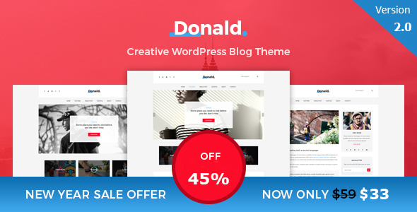Donald - Creative and Clean WordPress Blog Theme - Personal Blog / Magazine