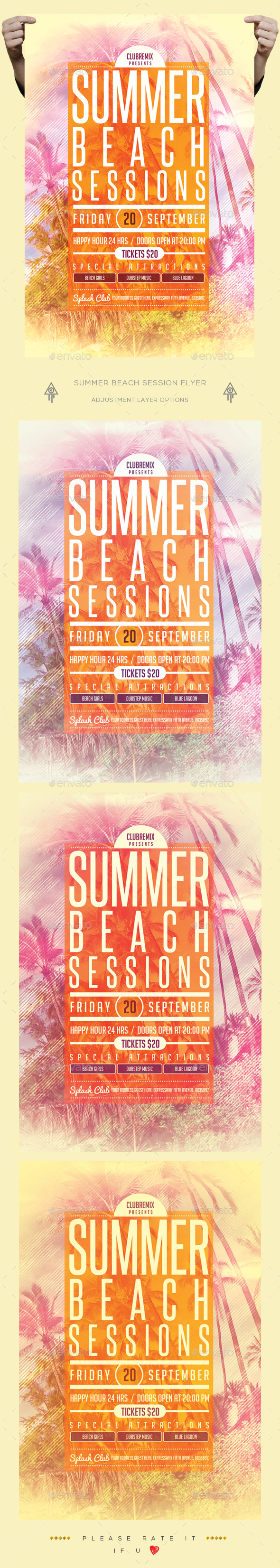 Summer Beach Session Flyer - Clubs & Parties Events