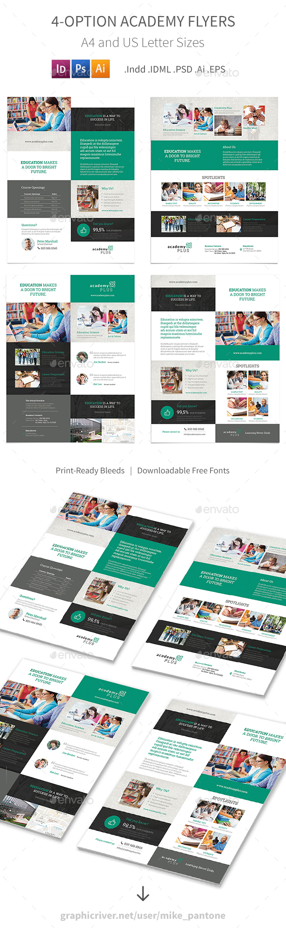 Academy Flyers – 4 Options - Corporate Flyers