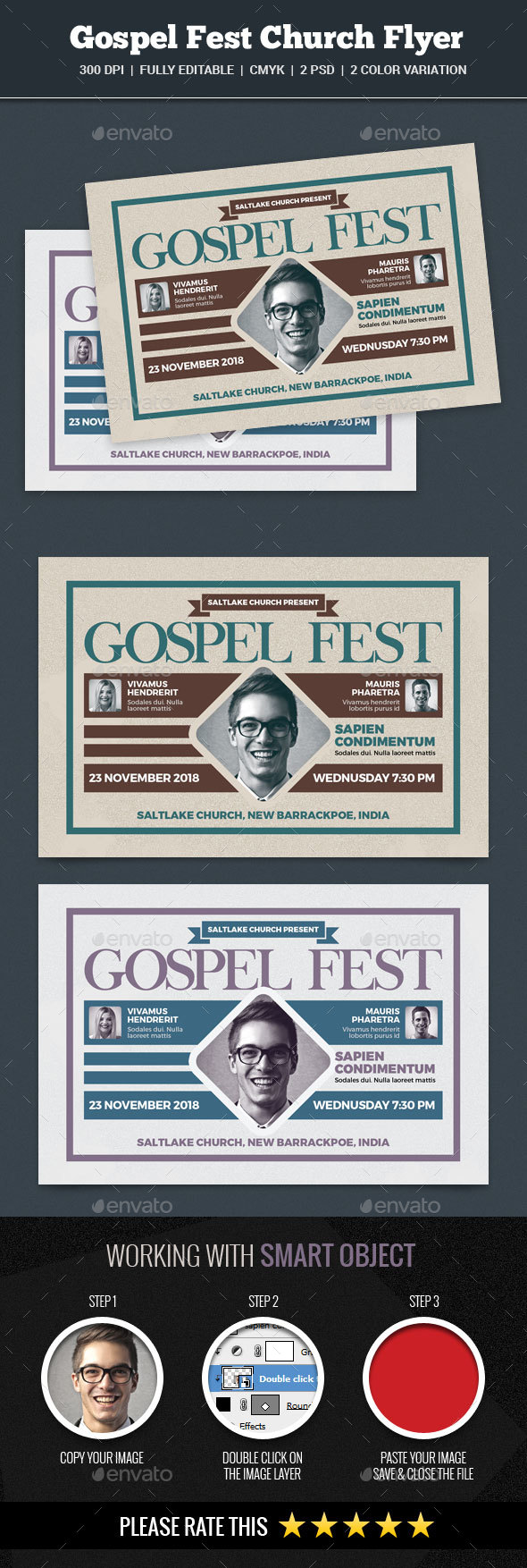 Gospel Fest Church Flyer - Church Flyers