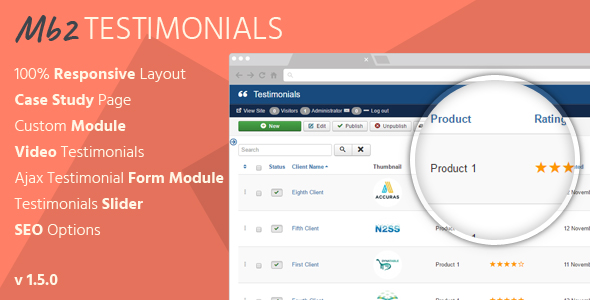 Mb2 Testimonials - Joomla Testimonials Extension - CodeCanyon Item for Sale