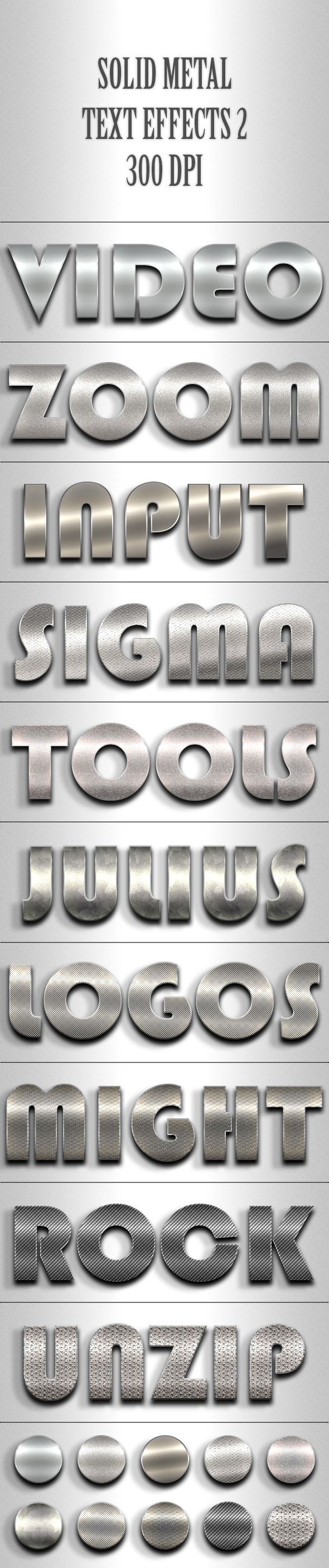 Solid Metal Text Effects 2 - Text Effects Styles
