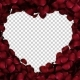 Animation Petals of Roses in a Heart - VideoHive Item for Sale