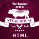 The Butcher - One Page HTML Template for Steak Houses