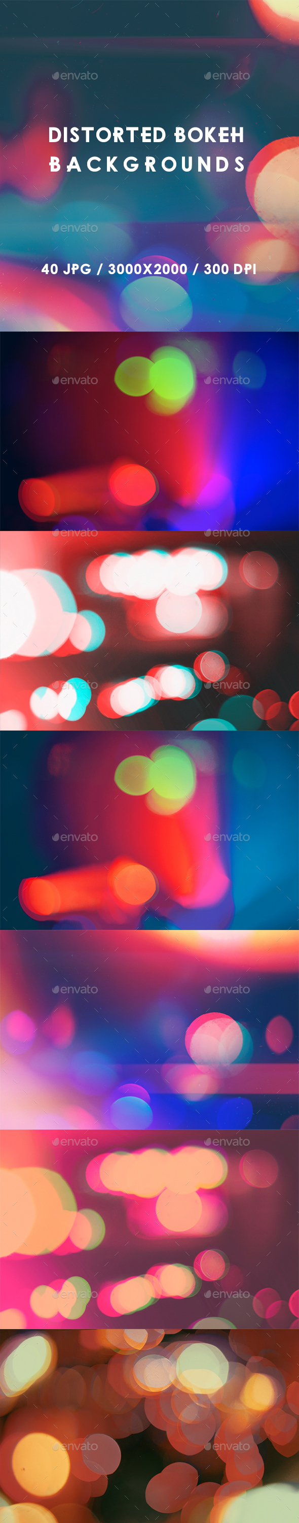 40 Distorted Bokeh Backgrounds - Abstract Backgrounds