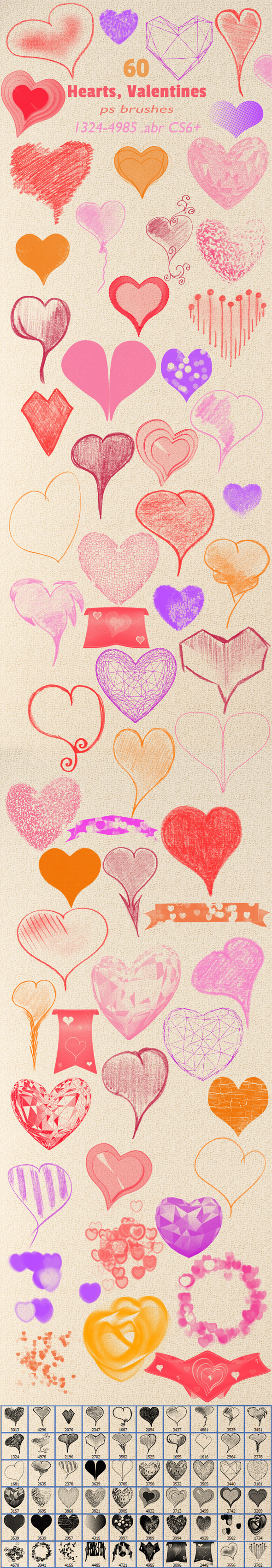 Hearts Valentines Brushes - Artistic Brushes
