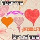 Hearts Valentines Brushes