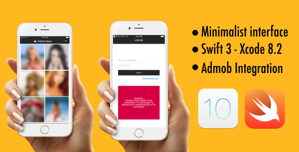Photo Vault - Swift 3 - iOS 10 - AdMob - CodeCanyon Item for Sale