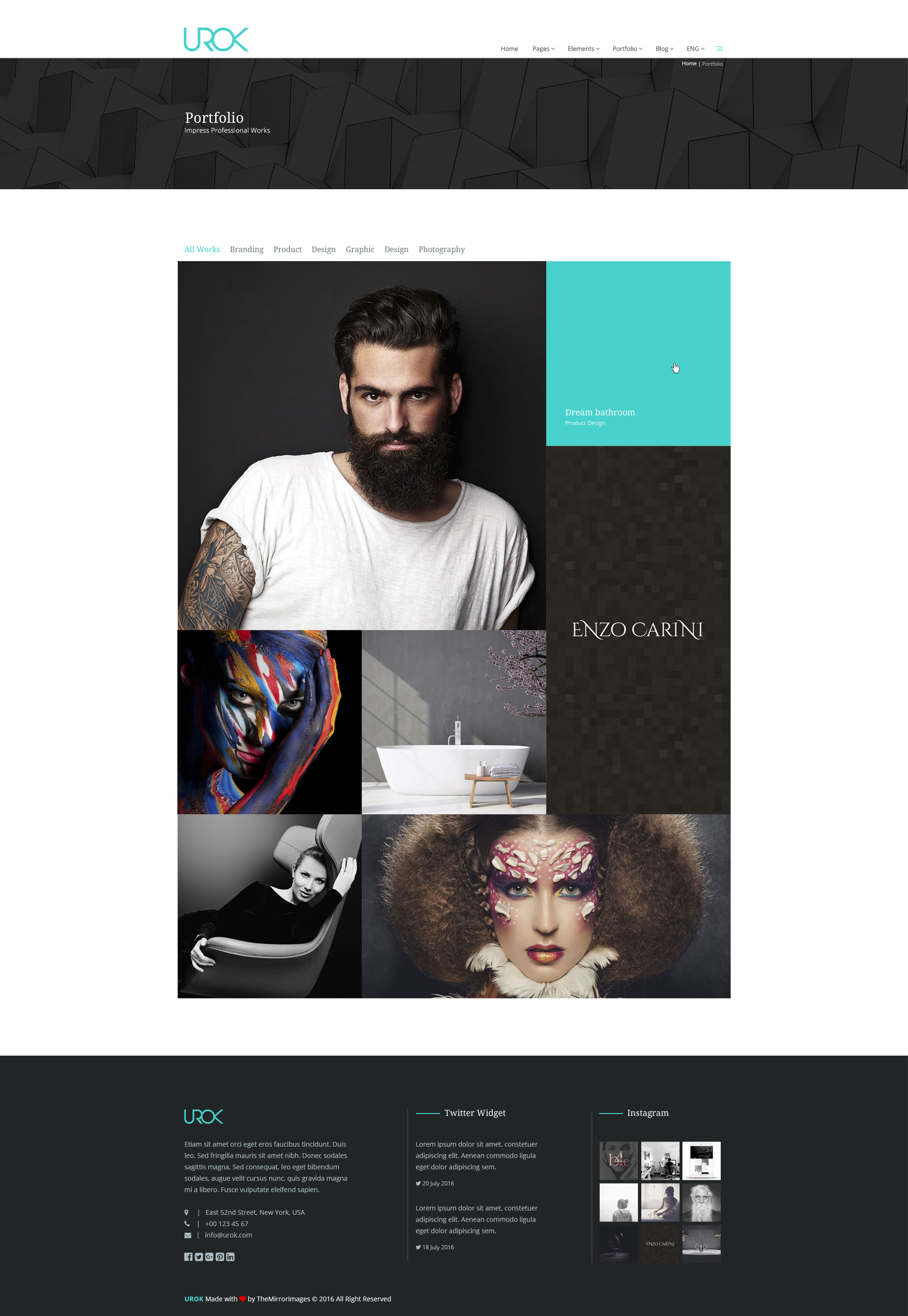 UROK - Creative Multipurpose PSD Template by TheMirrorImages ...