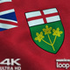 Ontario Flag 4K - VideoHive Item for Sale
