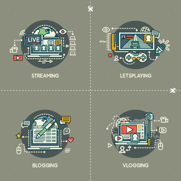 Streaming, Letsplaying, Blogging, Vlogging - Web Technology