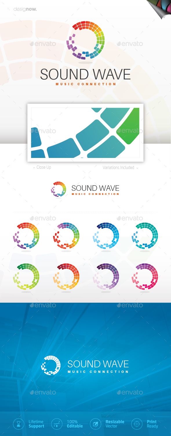 Music Wave Logo - Symbols Logo Templates