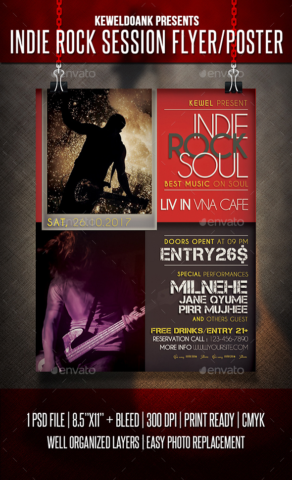 Indie Rock Session Flyer / Poster - Events Flyers