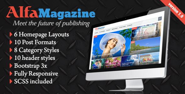 AlfaMagazine – HTML news&magazine template