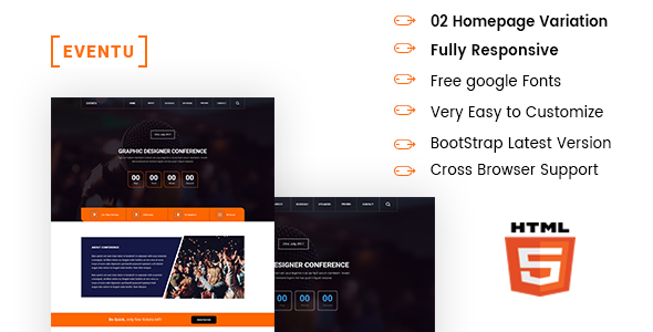 EVENTU - Event, Conference, Seminar HTML5 Responsive Template - Events Entertainment