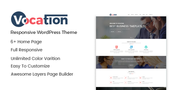 Image of Vocation – Corporate WordPress Theme
