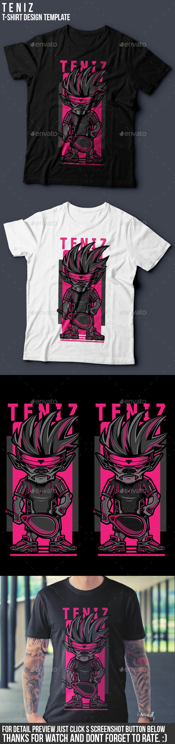 Teniz T-Shirt Design - Sports & Teams T-Shirts