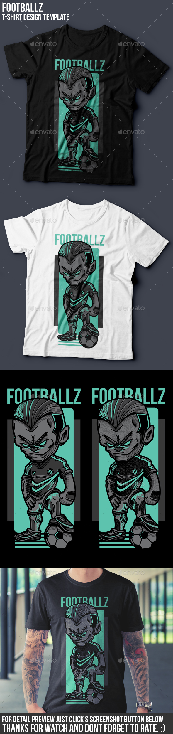 Footballz T-Shirt Design - Sports & Teams T-Shirts