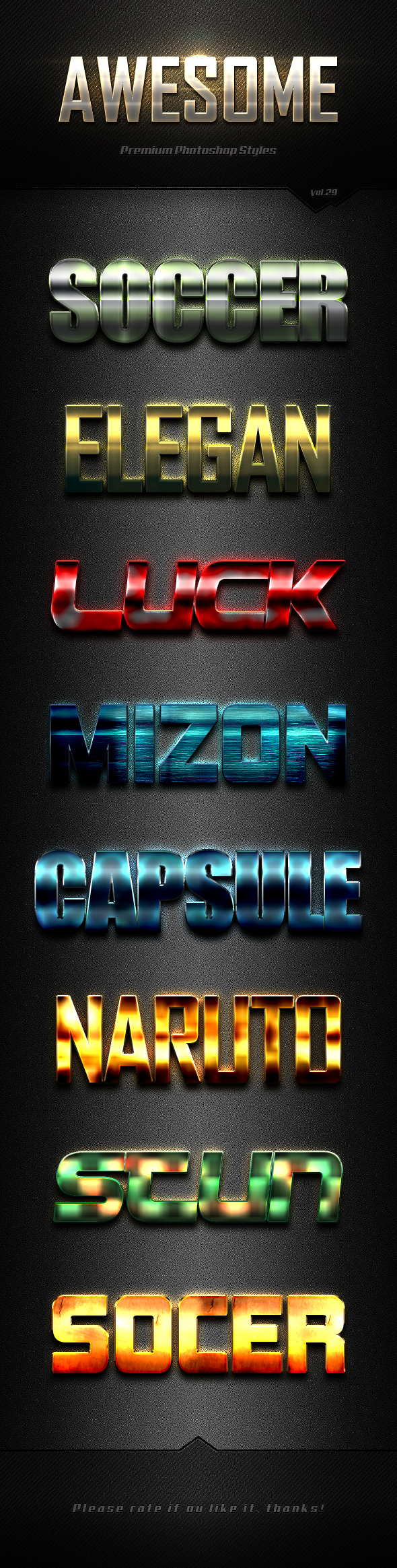 Photoshop Text Effects Vol.29 - Text Effects Styles