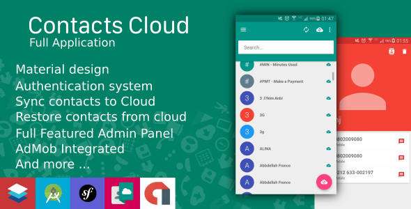 Contacts Cloud With Material design and AdMob - CodeCanyon Item for Sale