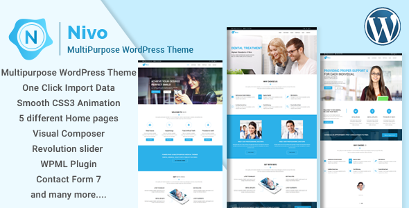 Nivo – Responsive Multi-Purpose Business WordPress Theme