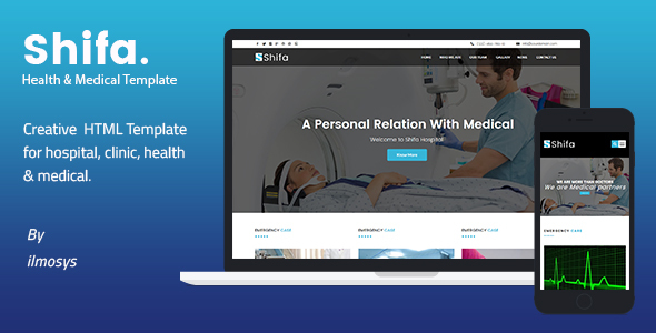 Health & Medical HTML Template – Shifa