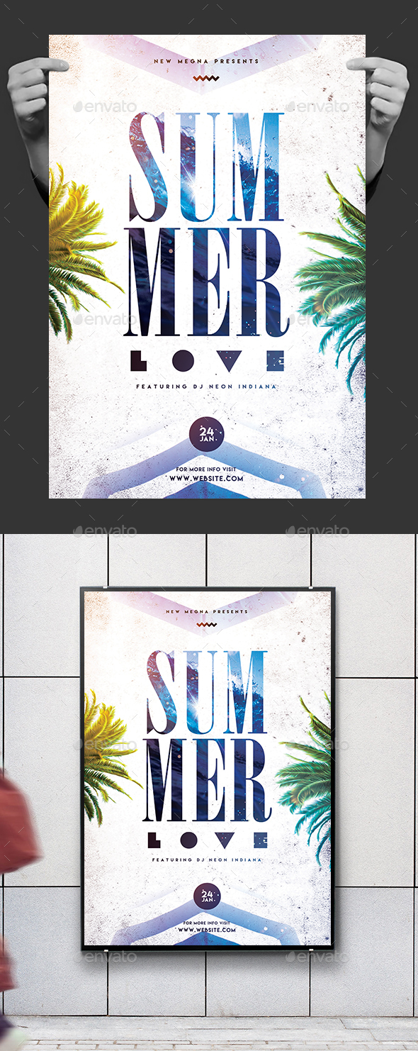 Summer Party Poster/Flyer - Clubs & Parties Events
