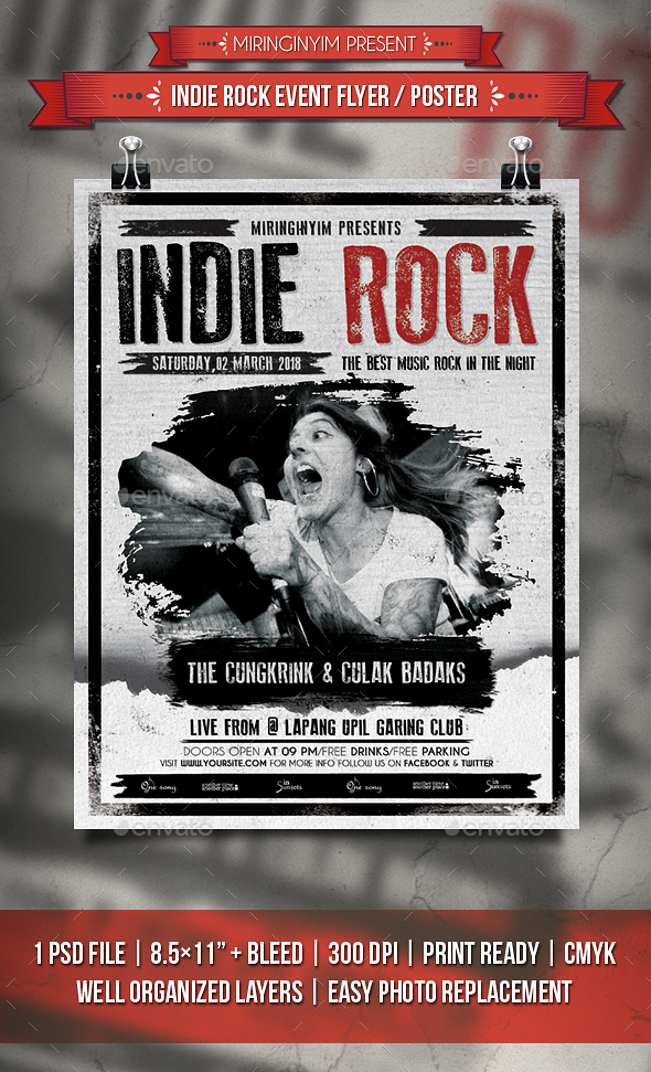 Indie Rock Event Flyer / Poster - Events Flyers