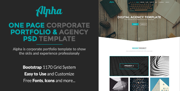 Alpha – Corporate Portfolio and Agency PSD Template