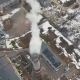 Top of the Pipe with Steam During the Winter Heating Season (Aerial Shot) - VideoHive Item for Sale