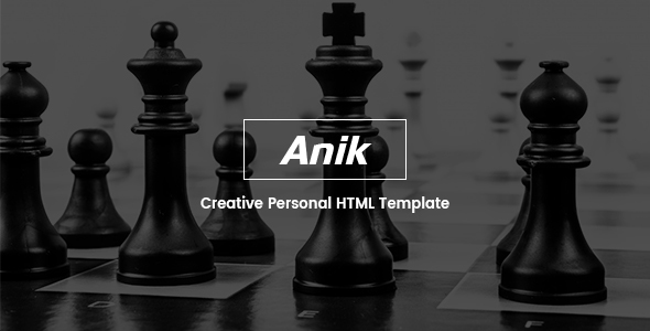 Anik – Personal Portfolio Template