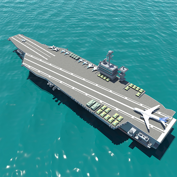 Full Armed Aircraft carrier - 3DOcean Item for Sale