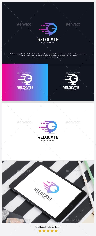 Relocate - Fast Pin Logo Template - Symbols Logo Templates