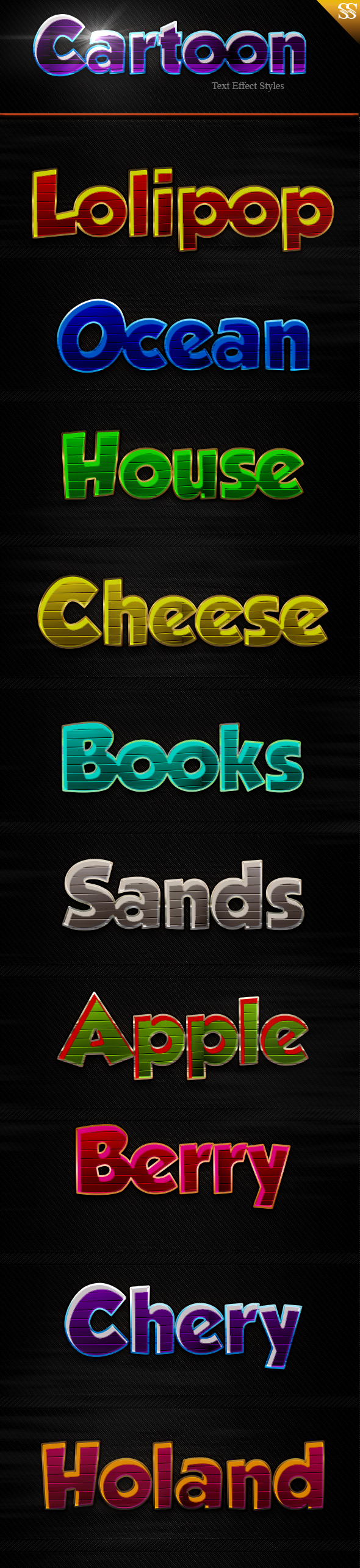Cartoon Text Effect Styles - Text Effects Styles