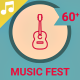 Music Fest Icons and Elements