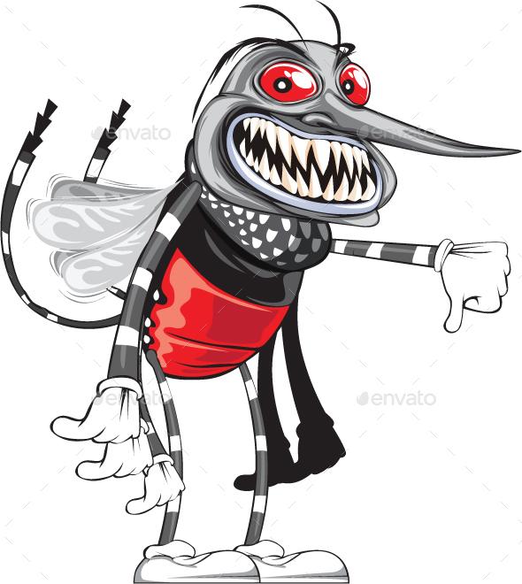 Mosquito Cartoon - Animals Characters