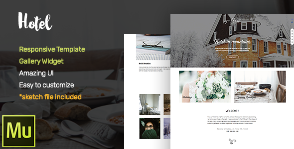 Hotel –  Adobe Muse CC Responsive Template + Gallery Widget