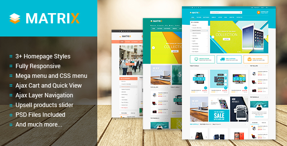 Matrix Multipurpose Responsive Magento Theme