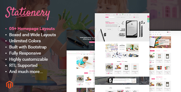Stationery - Responsive Magento Office Supplies Theme