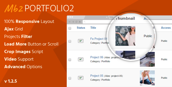 Mb2 Portfolio2 - Joomla Portfolio Extension - CodeCanyon Item for Sale