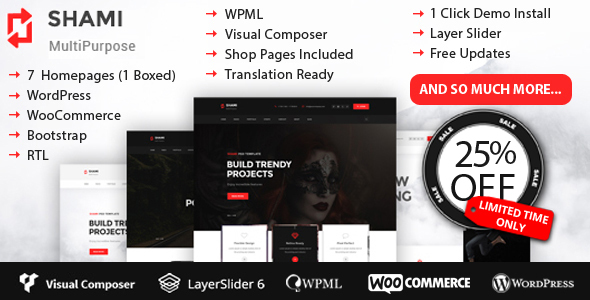 SHAMI Creative Multipurpose WordPress Theme