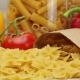 Pasta on Background of Fresh Vegetables and Spices - VideoHive Item for Sale