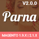Parna - Responsive Multi-purpose Magento 1 and 2 Theme Nulled