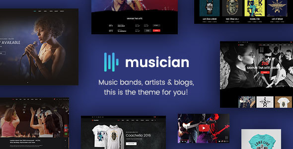Musician – Music Band, Blog, Shop HTML Template