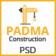 PADMA - One Page Construction PSD Template
