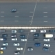 Top Down Aerial View of Traffic on Huge Freeway. Nulled