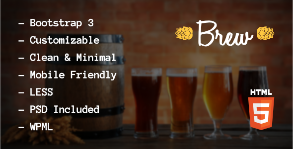 Brew – Brewery / Pub HTML5 Template